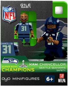 OYO Football NFL Building Brick Minifigure Kam Chancellor [Seattle Seahawks] Super Bowl XLVIII Champions