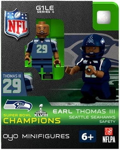 OYO Football NFL Building Brick Minifigure Earl Thomas III [Seattle Seahawks] Super Bowl XLVIII Champions