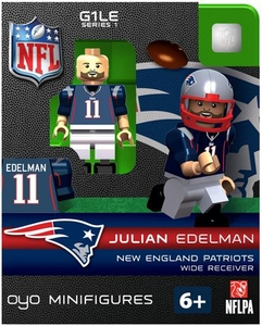 OYO Football NFL Building Brick Minifigure Julian Edelman [New England Patriots]