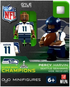 OYO Football NFL Building Brick Minifigure Percy Harvin [Seattle Seahawks] Super Bowl XLVIII Champions