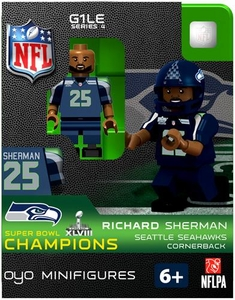OYO Football NFL Building Brick Minifigure Richard Sherman [Seattle Seahawks] Super Bowl XLVIII Champions