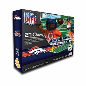 OYO Football NFL Generation 1 Team Field Gametime Set Denver Broncos New!