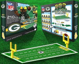 OYO Football NFL Generation 1 Team Field Gametime Set Green Bay Packers New!