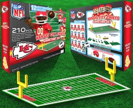 OYO Football NFL Generation 1 Team Field Gametime Set Kansas City Chiefs New!