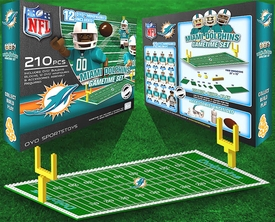 OYO Football NFL Generation 1 Team Field Gametime Set Miami Dolphins New!