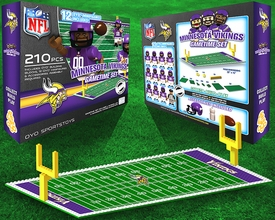 OYO Football NFL Generation 1 Team Field Gametime Set Minnesota Vikings New!