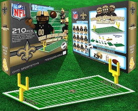 OYO Football NFL Generation 1 Team Field Gametime Set New Orleans Saints New!