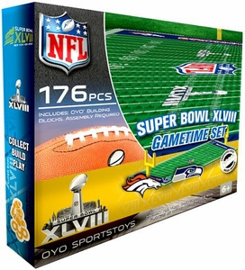 OYO Football NFL Generation 1 Team Field Gametime Set Super Bowl XLVIII