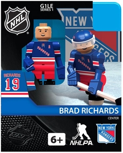 OYO Hockey NHL Building Brick Minifigure Brad Richards [New York Rangers]