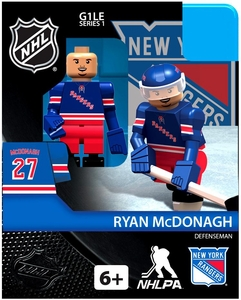 OYO Hockey NHL Building Brick Minifigure Ryan McDonagh [New York Rangers]