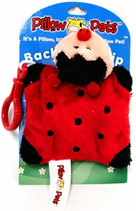 Pillow Pets Back Pack Clip Ladybug