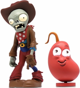 Plants vs Zombies 3 Inch Figure 2-Pack Cowoy Zombie with Chili Bean Pre-Order ships July