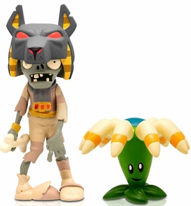 Plants vs Zombies 3 Inch Figure 2-Pack Tomb Raiser with Boomerang Pre-Order ships September