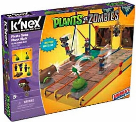 Plants Vs. Zombies K'NEX Set #53444 Pirate Seas Plank Walk Pre-Order ships August