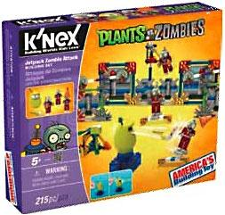 Plants Vs. Zombies K'NEX Set Jetpack Zombie New!