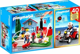 Playmobil City Action Set #5169 40th Anniversary Fire Rescue Operation Compact Set + Quad