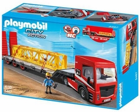 Playmobil City Action Set #5467 Heavy Duty Flatbed Trailer New!