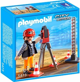 Playmobil City Action Set #5473 Surveyor New!