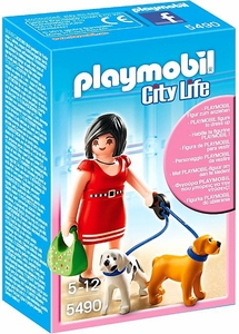 Playmobil City Life Set #5490 Woman with Puppies