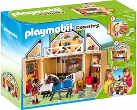 Playmobil Country Set #5418 My Secret Play Box Horse Stable