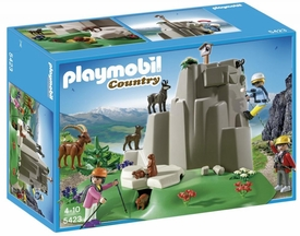 Playmobil Country Set #5423 Rock Climbers with Mountain Animals