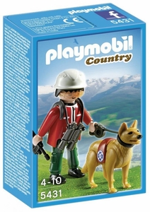 Playmobil Country Set #5431 Mountain Rescuer & Search Dog
