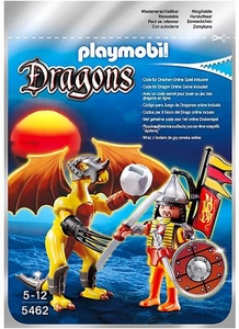 Playmobil Dragons Set #5462 Stone Dragon with Warrior