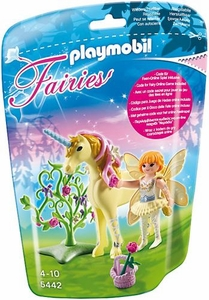 Playmobil Fairies Set #5442 Flower Fairy with Sun Beam Unicorn