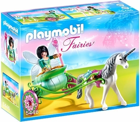Playmobil Fairies Set #5446 Unicorn Carriage with Butterfly Fairy