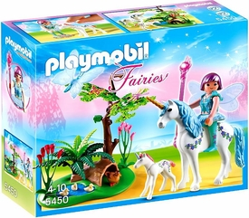 Playmobil Fairies Set #5450 Fairy Aquarella in the Unicorn Meadow