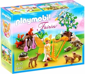 Playmobil Fairies Set #5451 Music Fairy with Woodland Creatures