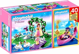 Playmobil Fairies Set #5456 40th Anniversary Princess Island Compact Set + Romantic Gondola