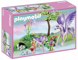 Playmobil Fairies Set #5478 Royal Children with Pegasus & Baby New!