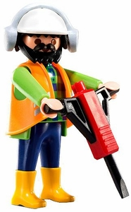 Playmobil Fi?ures Series 6 LOOSE Mini Figure Construction Worker