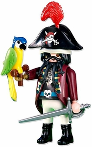 Playmobil Figures Set #6289 Pirate Captain with Parrot