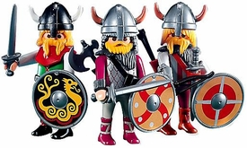 Playmobil Figures Set #7677 Three Viking Warriors