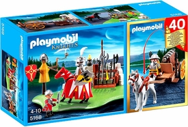 Playmobil Knights Set #5168 40th Anniversary Knight`s Tournament Compact Set + Cannon Wagon