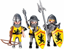 Playmobil Knights Set #7535 Three Yellow Lion Knights