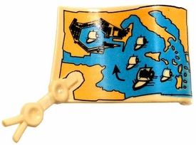Playmobil LOOSE Accessory Open Map Scroll with Seal