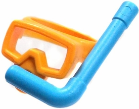 Playmobil LOOSE Accessory Orange & Blue Snorkel Mask