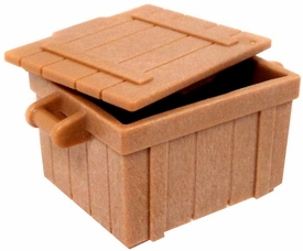 Playmobil LOOSE Accessory Tan Crate with Lid