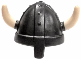 Playmobil LOOSE Axe Gunmetal Viking / Norse Helmet with Ivory Horns