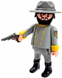 Playmobil LOOSE Mini Figure Confederate Officer with Pistol