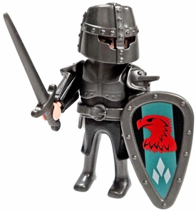 Playmobil LOOSE Mini Figure Falcon  Warrior with Great Helm, Sword & Shield