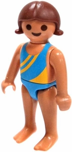Playmobil LOOSE Mini Figure Little Girl in Blue Swimsuit
