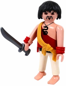 Playmobil LOOSE Mini Figure Pirate in Red Shirt with Gold Sash