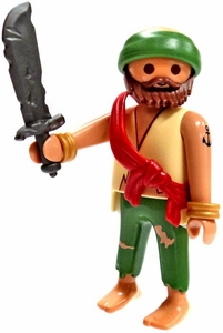 Playmobil LOOSE Mini Figure Tattered Pirate with Damaged Sword