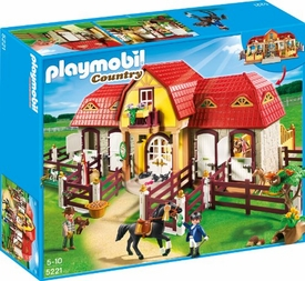 Playmobil Pony Ranch Set #5221 Large Horse Farm & Paddock