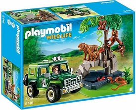 Playmobil Wild Life  Set #5416 Jungle Animals & Off-Road Vehicle