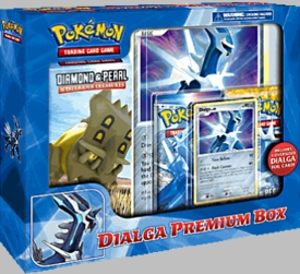 Pokemon Dialga Premium Box [1 Deck, 2 D&P Booster Packs, 1 Dialga Foil Card & 1 Oversized Dialga Card]
